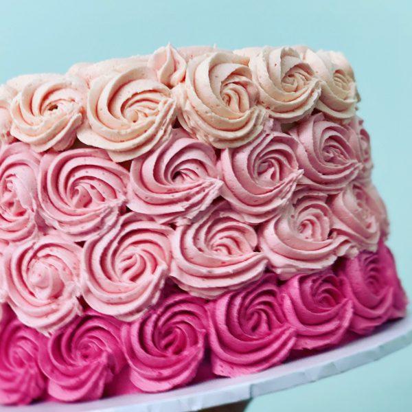 Pink-ombré cake sydney